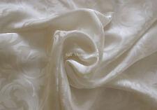 1 luxe pur soie taie d'oreiller femme au foyer est (Jacquard blanche naturelle)