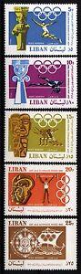 1968 Olympic Games Mexico City  Scott# C573-C577 (5) MNH  Lebanon Liban