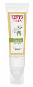 Burt's Bees Sensitive Eye Cream w/ cotton extract 0.5 oz 99.0% Natural
