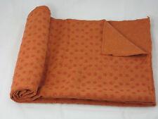 "NEW Yoga Towel Yoga Mat 24""x71"" Orange Color + Carry Bag- free shipping"