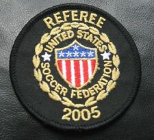 SOCCER FEDERATION EMBROIDERED SEW ON PATCH UNITED STATES REFEREE 2005 ~ 3""