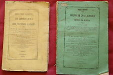 1876 & 1879 MADEIRA Sugar Cane & Wine -  Rare Pamphlets Printed Funchal