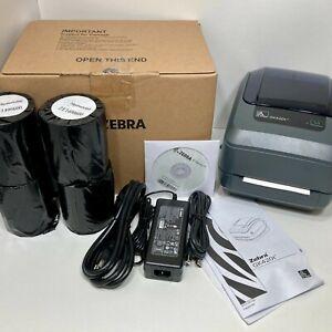 ZEBRA GK420T New Sealed USB Direct Thermal 4x6 Label Printer W/ 1000 New Labels