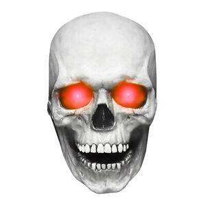 Adults Halloween Horrible Decor Full Head Skull Mask Helmet Movable Jaw Headgear