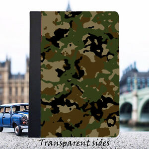 Camoflage Army iPad Cover Case (Hard Plastic or Leather)