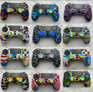 PS4 Silicone Controller Case Camouflage Skin Cover for PlayStation 4 /Slim/ Pro⚡