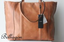 SABA Large Tan LEATHER Andrea Hand BAG TOTE BRAND NEW!!