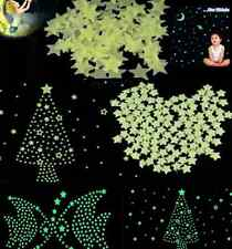 Home Wall Glow in The Dark Star Stickers Decal Baby Kids Room 100pcs Light Green