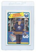 PIERRE TURGEON 1988 TOPPS Buffalo SABRES NHL Hockey ROOKIE Trading CARD #194