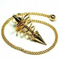 Spiral Healing Vortex Healing Dowsing Pendulum Copper Plated