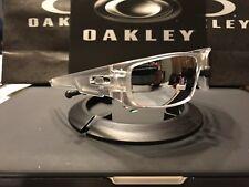 New oakley crankshaft Matte Clear / Chrome iridium Polarized & Chrome Icons