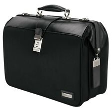 Bettoni Shiny Leather/Web Nylon Laptop / Document Business / Doctor Bag - New
