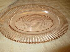Macbeth & Evans Petalware pink Depression glass Serving Platter