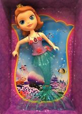 Disney Sofia The First Magical Lights Mermaid Doll Sings Song Princess Bath Toy
