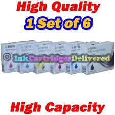 6 HQ Ink for EPSON Stylus Photo 1400 1410 1500W T0791 /2/3/4/5/6 1 Set Non-OEM