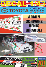 DECAL 1/43 TOYOTA CELICA ST205 ARMIN SCHWARZ RAC 1996 WINNER (01)