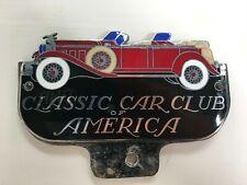 "Classic Car Club of America ~ GRILLE BADGE ~ Enamel 5"" x 3"" ~ Beautiful!!!!"