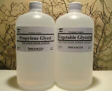 VEGETABLE GLYCERIN + PROPYLENE GLYCOL PG/VG NON-GMO FOOD GRADE 2 QUART Qt.