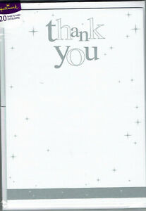 Hallmark Thank You Notelets - Pack of 20