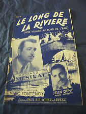 Partition Le long de la rivière Armand Mestral Jean Deny 1949 Music Sheet