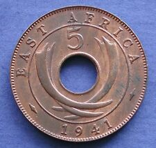 MONETA COIN MONNAIE GREAT BRITAIN - EAST AFRICA KING GEORGE VI°  5 CENTS 1941 #2