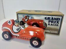 GRAND PRIX RACE CAR Tin Toy. Piston Pounding Engine Sound