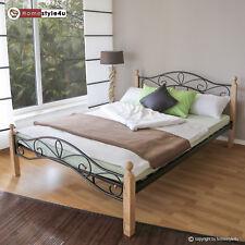 métal lIt cadre de lit lit double Sommier 140 160 180 noir white argent 920