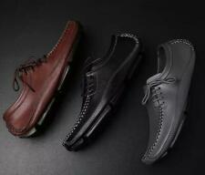 Men Driving Loafers  Slip On Faux Leather Lace Up Shoes Fashion Leisure Flats