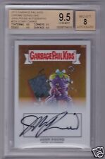 Garbage Pail Kids Chrome - SCARY CARRIE 25b - BGS GRADED JOHN POUND AUTOGRAPH