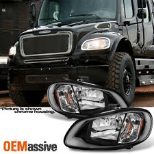 Fit 2004-2012 Freightliner Business Class M2 | 2003-13 M2 106 Black Headlights