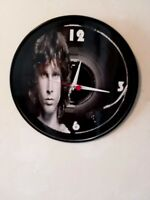 JIM MORRISON - THE DOORS - 12 INCH WALL CLOCK  / LA WOMAN  FREE POSTER FREE SHIP
