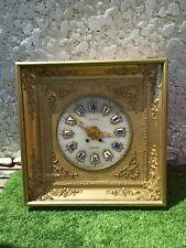Horloge murale ancienne dorée - Napoleon III -19 ème siècle - 59x59x19,5cm