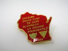 Vintage Collectible Pin: 40/8 Forty & Eight Groshek Grand Chef De Gare Blumreich