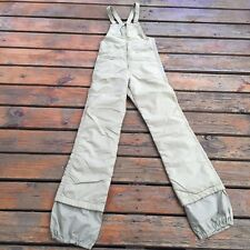 VTG Alpine Designs Tan Ski Bib Snow Suit, Size Small