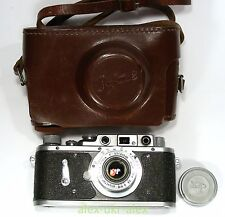 Very rare Russian Zorki-2 camera with Industar-22 lens. Exc+ .CLA