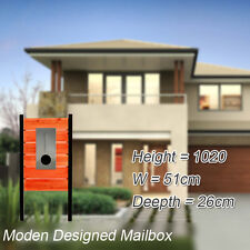 Timber Pillar Letterbox Stainless Letter box Steel Mailbox Moden House Building