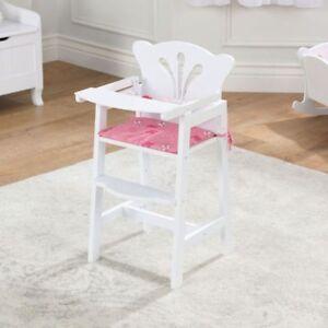 Kidkraft Lil Doll High Chair, Dolls Wooden High Chair Toy
