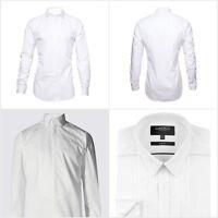 Fa M Ou S Men's White Formal Dinner Shirt Dress Shirts Size 14.5-18 RRP £19 -£35
