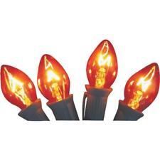 125 Pk C7 5W 120V Replacement Orange Christmas Tree Light Bulb @ 4/Pk 1414-06