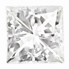 1 Princess Cut Moissanite White Brilliant 8mm Diameter 3.10 tcw Loose Stone