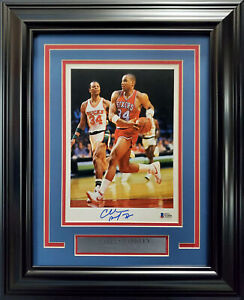 CHARLES BARKLEY AUTOGRAPHED SIGNED FRAMED 7X10 PHOTO 76ERS BECKETT 193866
