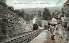 HOOSAC TUNNEL WESTERN PORTAL NORTH ADAMS MASSACHUSETTS TRAIN POSTCARD 1906