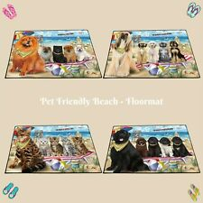 Pet Friendly Beach Floormat,Dogs, Cats, Pet Photo lovers gift doormat home decor