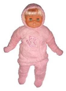 Süßer Baby-Overall Teddyplüsch, rosa, Gr. 74/80