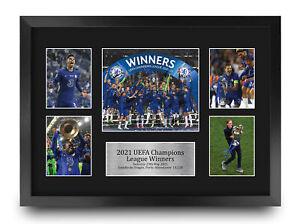 Chelsea Champions League Winners 2021 Blues A3 Signed Print Photo a Football Fan