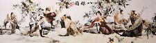 GIANT ORIGINAL ASIA ART CHINESE FAMOUS FIGURE WATERCOLOR PAINTING-Eight Immortal