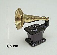 gramophone miniature maison de poupée, vitrine,phonographe, métal **CL4