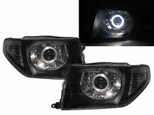 Pajero iO 98-15 SUV Guide LED Halo Projector Headlight Black for Mitsubishi RHD