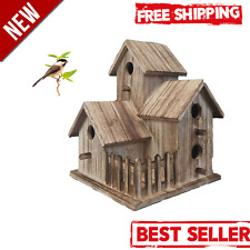Lyfreen Wooden Birdhouses Pet Wren Home,Large Bird Houses for Outside Distressed