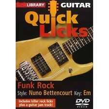 Quick Licks Funk Rock Nuno Bettencourt Learn to Play Guitar DVD RDR0323 Key Em